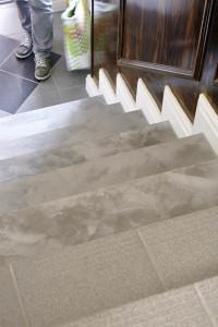 Betongraue Stufen